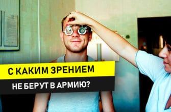 с каким зрением не берут в армию России